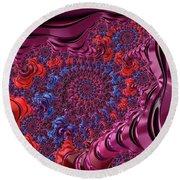 Fractal, Pattern, Kaleidoscope, Art Round Beach Towel