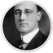 Franklin Delano Roosevelt Round Beach Towel