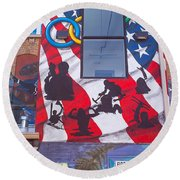 Freak Alley Boise Round Beach Towel