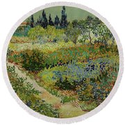 Garden At Arles Round Beach Towel