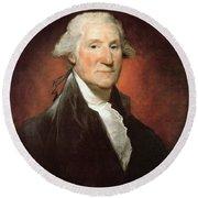 George Washington Round Beach Towel