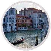 Gondola, Canals Of Venice, Italy Round Beach Towel
