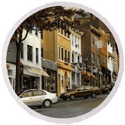 Greenwich Avenue Round Beach Towel