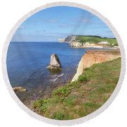 Isle Of Wight - England Round Beach Towel