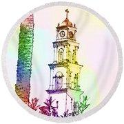 Jaffa, St Peter Church And Monastery Round Beach Towel