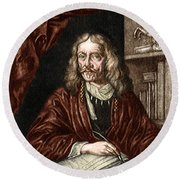 Johannes Hevelius, Polish Astronomer Round Beach Towel