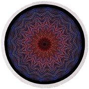 Kaleidoscope Image Created From Light Trails Round Beach Towel