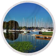 Lake Guntersville Alabama Round Beach Towel