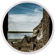 Le Mont Saint Michel Round Beach Towel
