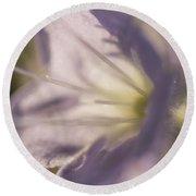 Pastel Purple Flowers Round Beach Towel