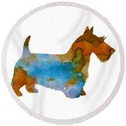 Scottish Terrier Round Beach Towel