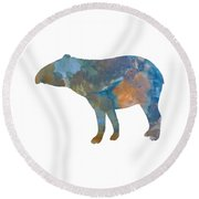 Tapir Round Beach Towel