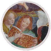 The Concert Of Angels Round Beach Towel