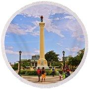 Traversing Santiago De Cuba, Cuba. Round Beach Towel