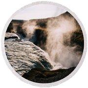 Waterfalls Round Beach Towel