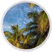 8167- Palm Tree Round Beach Towel