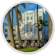 8230-beacon Hotel Round Beach Towel