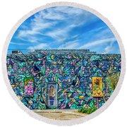 8276- Little Havana Mural Round Beach Towel