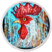 8288- Little Havana Mural Round Beach Towel