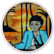 8303-2-  Little Havana Mural Round Beach Towel