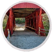 8350- Campbell's Covered Bridge Round Beach Towel