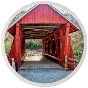 8351- Campbell's Covered Bridge Round Beach Towel