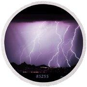 85255 Fine Art Arizona Lightning Photo Poster Round Beach Towel