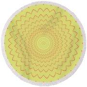 Psycho Hypno Floral Pattern Round Beach Towel