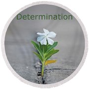 88- Determination Round Beach Towel