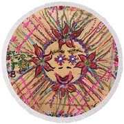 8th Day Of Christmas Round Beach Towel
