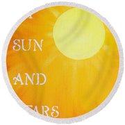8x10 My Sun And Stars Round Beach Towel