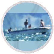 9-5-15--# 1 Don't Drop The Crystal Ball  Round Beach Towel