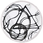 Abstract Pencil Pattern Round Beach Towel
