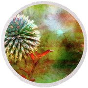 American Beach Cottage Art And Feelings Round Beach Towel