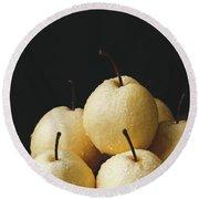 Asian Pears Round Beach Towel
