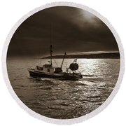 Cape Ann, Ma Round Beach Towel