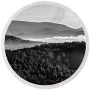 Early Morning On Blue Ridge Parkway Round Beach Towel