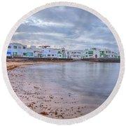 Famara - Lanzarote Round Beach Towel