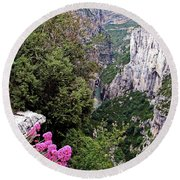 Grand Canyon Du Verdon Round Beach Towel