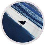 Bird On A Beach  Round Beach Towel