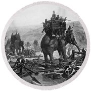Hannibal (247-183 B.c.) Round Beach Towel