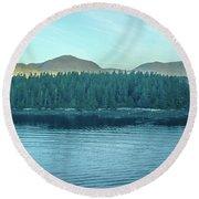 Inside Passage Mountain Views Around Ketchikan Alaska Round Beach Towel