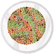 Ishihara Color Blindness Test Round Beach Towel