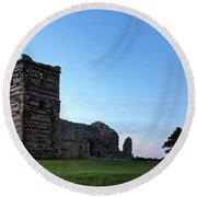 Knowlton Church - England Round Beach Towel