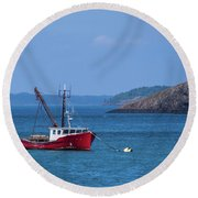 Lubec ,maine  Round Beach Towel
