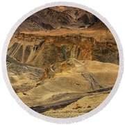 Moonland Ladakh Jammu And Kashmir India Round Beach Towel