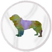 Newfoundland Dog Round Beach Towel