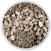 Pebbles 1 Round Beach Towel
