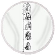 Presidential Campaign, 1872 Round Beach Towel
