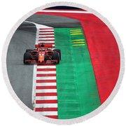 Sebastian Vettel Ferrari  Round Beach Towel